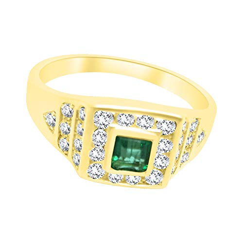 Anillo mujer Mignolo oro 18 kt 750 Smeraldi natural 0,33 ct y diamantes 0,20 ct