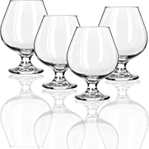 Circleware Biltmore Cognac Wine Brandy Snifter Whiskey Glasses, Set of 4 All- All-Purpose Elegant Party Beverage Glassware Drinking Cups for, Beer, Liquor and Bar Decor, 11.5 oz, Clear