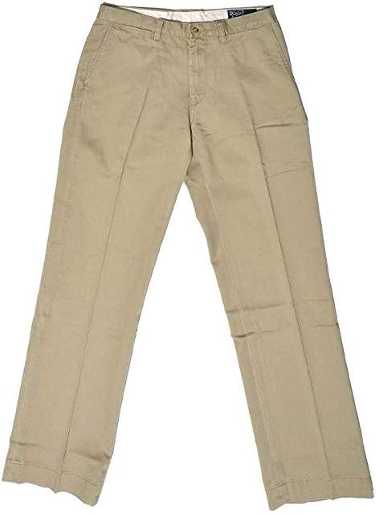 Ralph Lauren Big and Tall Classic Fit Chino Pants Flat Front 44Tx36 Hudson Tan