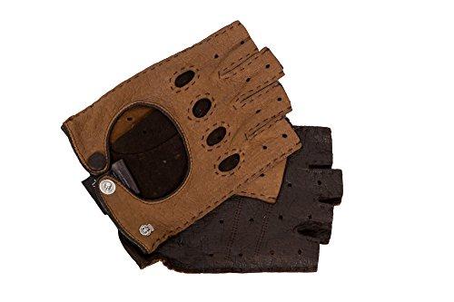 Roeckl He-Peccary Autohands. 1/2 Finger hellbraun Gr. 8,5