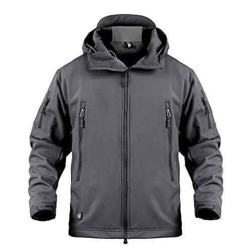 YEVHEV Tactical Jacket for Men Hunting Coat Hooded Skiing Jackets Softshell Fleece for Winter Outdoor