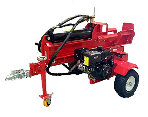 50 Ton, 15HP Hydraulic Gasoline Powered Log Wood Splitter Cutter Machine, with 18GPM 2 Stage Pump and 7.5' Splitting Wedge