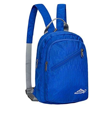 XIE@ Borsa da viaggio sport outdoor uomini e donne diagonale Zainetto Monospalla zaini trekking , blue