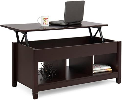 Best Best Choice Products Wooden Modern Multifunctional Coffee Dining Table for Living Room, Décor, Disp