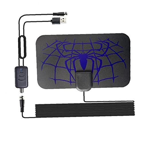 Tuimiyisou HDTV Digital 1500 Millas Antena de TV aérea Fácil Instalación Receptor TDT HD 4K 1080P con el Amplificador de la señal púrpura