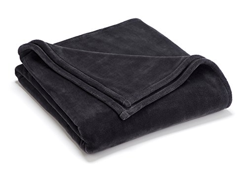 Vellux Sheared Mink King Blanket, Charcoal Grey