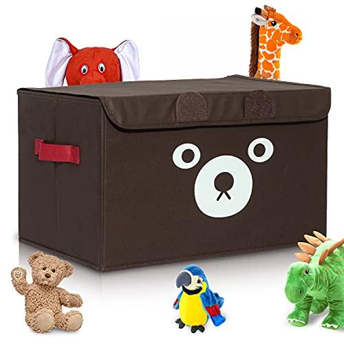 Katabird Coffre à jouet pliable avec couvercle pour ranger jeux, vêtements de bébé, livres ou peluches