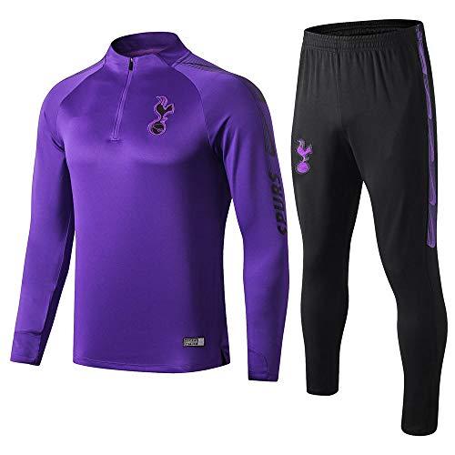zhaojiexiaodian 19-20 Thuis Paars Lang-Sleeved Voetbal Uniform Jas Uit De Pak Sweater Trainingspak