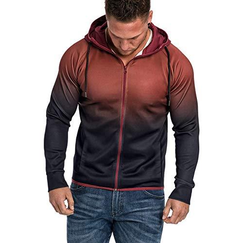 Christmas Sweatshirts for Men, Men Splicing Tie Dyeing Pullover Long Sleeve Hooded Sweatshirt Tops Blouse 2020 by Vanankni