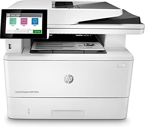 HP LaserJet Enterprise MFP M430f 3PZ55A, Impresora Láser Multifunción, Imprime, Escanea, Copia y Fax, Ethernet, USB 2.0, HP Smart App, Pantalla Táctil en Color, Blanca