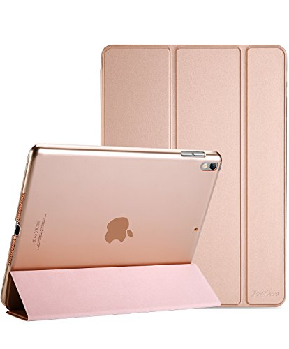 ProCase iPad Air (3rd Gen) 10.5' 2019 / iPad Pro 10.5' 2017 Case, Ultra Slim Lightweight Stand Smart Case Shell with Translucent Frosted Back Cover for Apple iPad Air (3rd Gen) 10.5' 2019 –Rose Gold