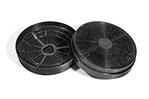Lot de 2 filtres à charbon PRCF110 comme PKM CF110 CF 110 et Klarstein CGCH2 Respekta MIZ 0023 Hanseatic 81212096 Privileg Boman KF561 Ciarra CBCF003
