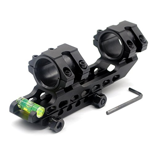 TRIROCK Scope Mounting Rings with Bubble Level, Dual Mount Adapter Ring 30mm / 25.4mm (1 inch) for 20mm Picatinny Weaver Rail