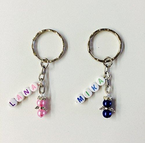 Schlüsselanhänger personalisiert mit Name und Schutzengel