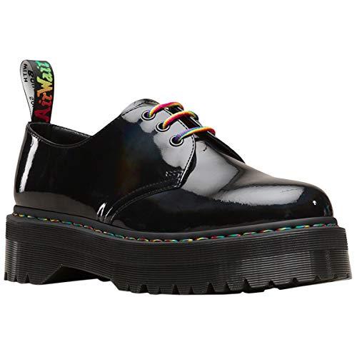 Dr. Martens Women's Quad Retro 1461 Lace Up Shoe Black Rainbow-Black-3 Size 3