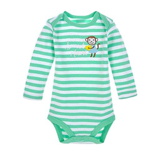 Dooxii Bebé Niños Niñas Manga Larga Bodies Pijama Casual Impreso Monos Regalo Combinación
