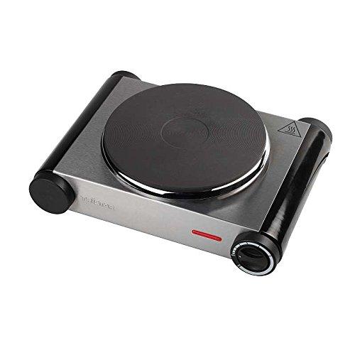 Roestvrijstalen kookplaat 1500 watt (fornuisplaat, camping-kooktoestel, warmhoudplaat, thermostaat)