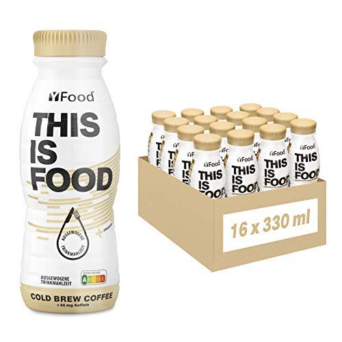 YFood Kaffee | Laktose- und glutenfreier Nahrungsersatz | 22g Protein, 26 Vitamine und Mineralstoffe | Leckere Astronautennahrung - 17% des Kalorienbedarfs | Trinkmahlzeit, 16 x 330 ml (1 kcal/ml)