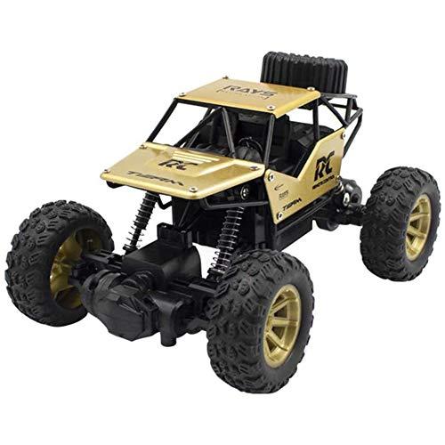 MXXQQ Carro de controle remoto, carrinho elétrico de corrida rápida de 2,4 Ghz de alta velocidade com controle de rádio, caminhões de rock 1:18 RC Crawler, carrinho de brinquedo para adultos e crianças, amarelo