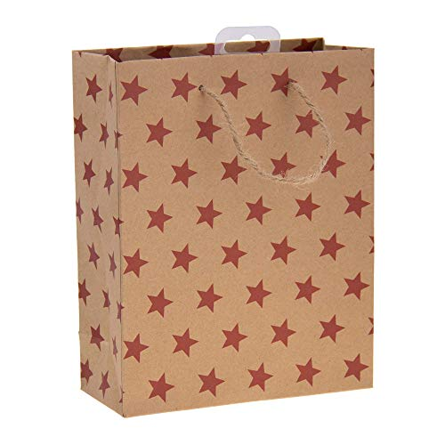 Idena 31452-Bolsa de Regalo (23 x 18 x 8 cm, Papel de estraza), diseño de Estrella (31452)