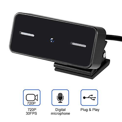 Cofemy HD 500w Pixel Auto Focus Webcam, Cámara de computadora ajustable USB negro con micrófono