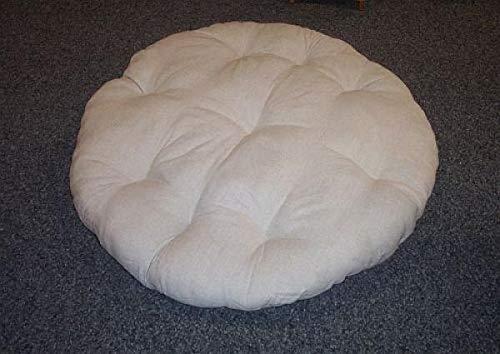 Rattan im Trend - Cuscino rotondo per sedia papasan, 100 cm, colore: grigio