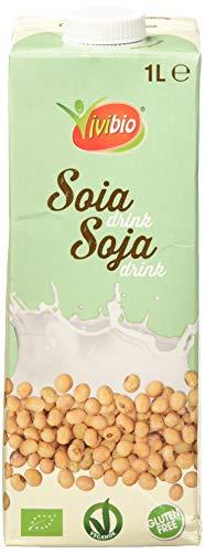 Vivibio Bebida de Soja natural BIO sin gluten - Vivibio - 1l (cja 6 uds - Total: 6 litros)
