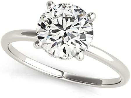 14k Inexpensive Max 73% OFF White Gold Prong Set Round Engagement 2 Diamond cttw Ring