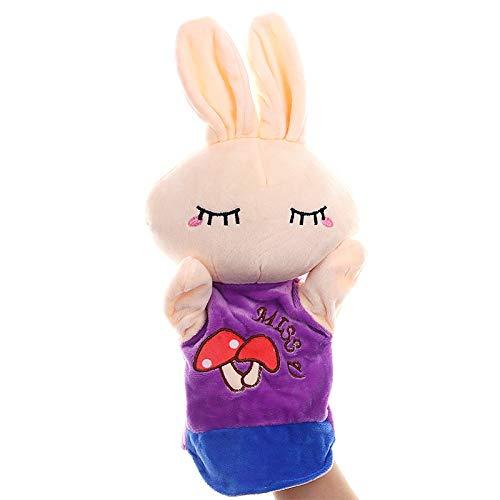 Marionetas animales Muñeca de juguete animal de la historieta marioneta de mano suave felpa Guante de Títeres for Niños Los niños pequeños niños y adultos - Juego de rol Juegos de padres e hijos la ed