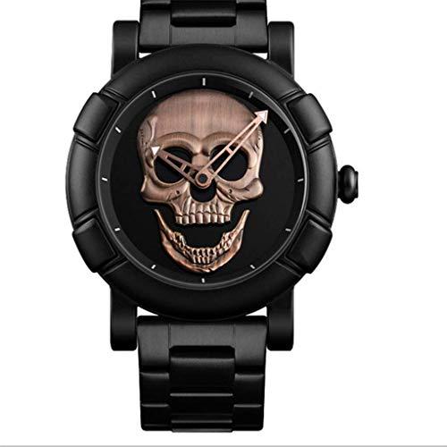 MNBVC Reloj Digital Mujeres Hombres Relojes Moda Cool Banda de Acero Inoxidable Caja de aleación Cráneo Reloj Deportivo Reloj de Pulsera
