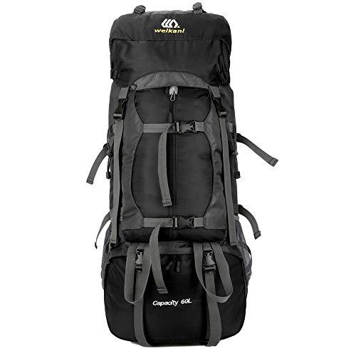 XGTsg Les Sports De Plein Air Sac Sac Sac De Techniques Professionnelles Camping Randonnée Alpinisme Sac Épaule 60 L,Black