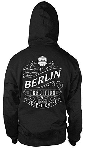 uglyshirt87 Mein Leben Berlin Kapuzenpullover | Freizeit | Hobby | Sport | Sprüche | Fussball | Stadt | Männer | Herren | Fan | M1 FB (XL)