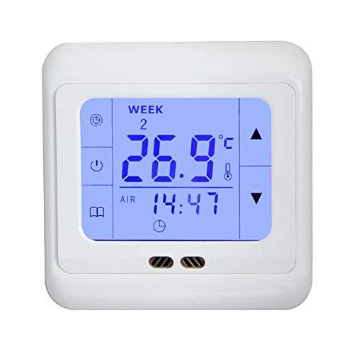 Digital Thermostat H3 + Touch-screen Unterputz mit Fühler für Fußbodenheizung