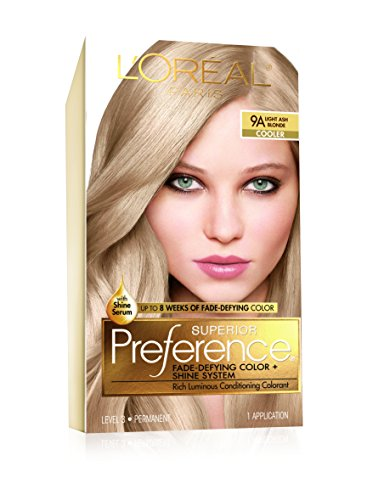 L'Oreal Superior Preference Light Ash Blonde 9A Cooler,1 Each (Pack of 4)