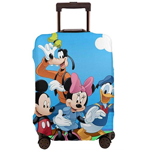 Travel Luggage Cover Donald Duck Mickey Mouse and Goofy Luggage Protector Suitcase Cover Fits 18-32 Inch Luggage-L