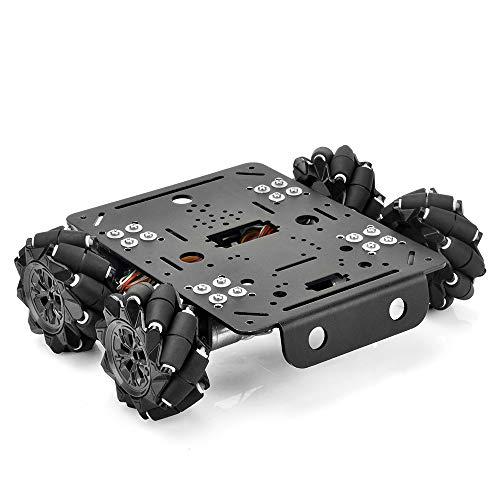 OSOYOO 4WD Omni Wheels Robotic Mecanum Wheels Robot Chasis de plataforma de automóvil con motor de codificador de velocidad para Arduino / Raspberry Pi / Micro: bit DIY