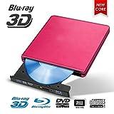 ブルーレイUSB 3.0外付けBD / CD/DVDドライブバーナーは、Mac / Windowsの10 /ラップトップ/PC光学ドライブプレーヤーライター用メタルクロームポリッシュ