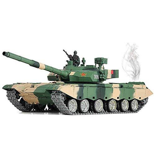 GRTVF Tanque de Control Remoto de 2.4GHz, 1:16 Batalla Principal China 99 Tipo Tanque Modelo Militar Modelo RC Tanque Sound simulado/acción y Humo, Disparo BB, Regalos para Adultos y niños