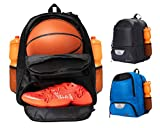 ERANT Basketball Backpack with Ball Compartment – Basketball Bags with Ball Holder – Basketball Bag Backpack – Basketball Bags for Boys – Backpack for Basketball (Black)