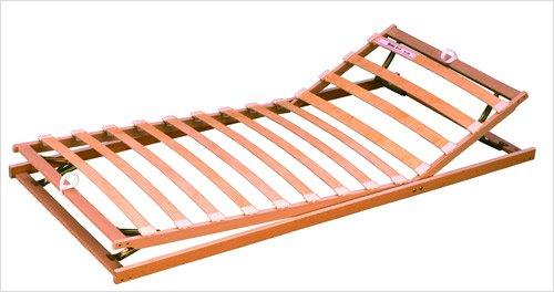lifestyle4living Stabiler Schichtholz-Lattenrost, mit Kopf und Fußteil stufenlos verstellbar, Maße: 90 x 200 cm