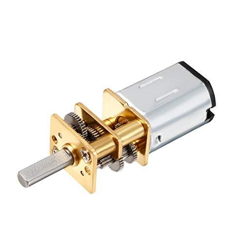 Makermotor 10 mm 2-plat Arbre 100 tr//min Gear Motor 12 V DC Basse Vitesse Réversible