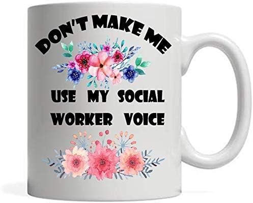 Funny Coffee Mug Social Worker Idea Social Worker Grad Thank You Social Work Appreciation Dont product image