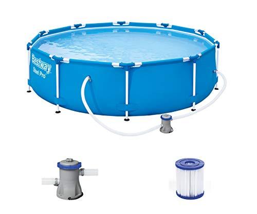 Bestway Steel Pro Framepool set, rond met filterpomp 305 x 76 cm zwembad, blauw