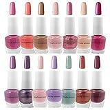 B.C. Beauty Concepts Nail Polish Set - 14 Mini Nail Polish Colors, Polish Kit for Fingernails and Toenails, 0.12 Fl Oz Each