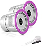 Reusable Cups Stainless Steel Coffee Filters Compataible for K-Duo Keurig,K select K80, K-Elite, K-mini Plus, and 2.0 & 1.0 Brewer, Reusable Coffee Pod Metal Filter (2 Pods+ 1 Scoop)