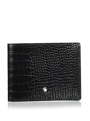 Montblanc Cartera Mst Sel 6Cc Pocket Card Negro/Marrón
