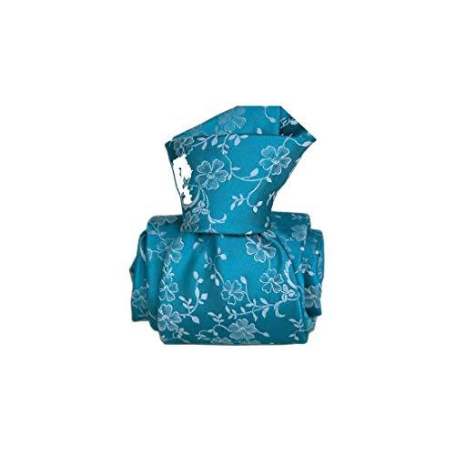 Segni et Disegni. Cravate classique. Lombardie, Soie. Bleu, Fantaisie. Fabriqué en Italie.