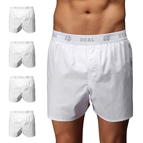 D.E.A.L International 5er-Set Boxershorts mit Logo-Bund, Weiss Size M