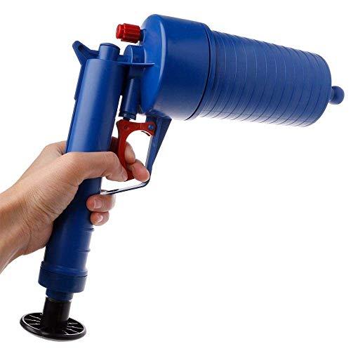 Hoge druk luchtpomp Drain Blaster wastafel zuiger badkamer toilet pipe Unblocker verstopping Remover WC Keuken Cleaner Kit,Blue