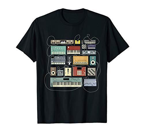Elektronische Musiker Synthesizer Dj T-Shirt